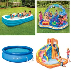 Half Truckload - 12 Pallets - 142 Pcs - Pools & Water Fun, Outdoor Play, Outdoor Sports, TV Stands, Wall Mounts & Entertainment Centers - Customer Returns - Play Day, PolyGroup, Summer Waves, Coleman