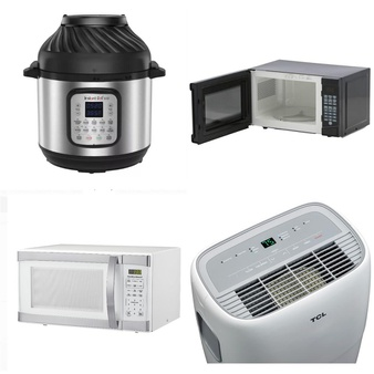 Pallet – 14 Pcs – Microwaves, Deep Fryers – Customer Returns – Hamilton Beach, Curtis International, Kalorik, Instant Pot