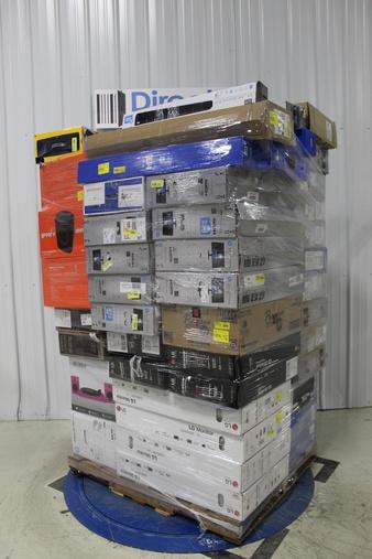 Pallet – 78 Pcs – Monitors, Speakers, Portable Speakers, Lamps, Parts & Accessories – Customer Returns – Onn, HP, LG, onn.