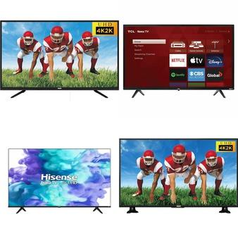19 Pcs – LED/LCD TVs – Refurbished (GRADE A) – RCA, TCL, HISENSE, Samsung