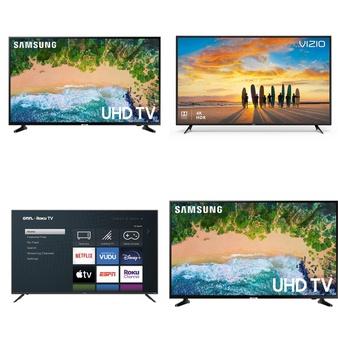 5 Pcs – LED/LCD TVs – Refurbished (GRADE C) – Samsung, TCL, VIZIO, onn.