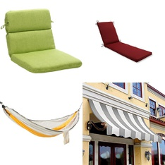31 Pcs - Outdoor Furniture - Like New, Used, New, Open Box Like New - Retail Ready - Embark, Pillow Perfect, threshold, Awntech