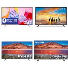 5 Pcs – LED/LCD TVs – Refurbished (GRADE C) – Samsung, VIZIO