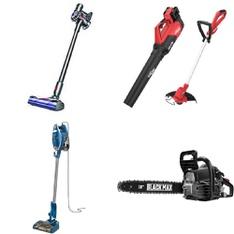Pallet – 30 Pcs – Vacuums, Power Tools, Floor Care – Customer Returns – Shark, Dyson, Hyper Tough, Hoover