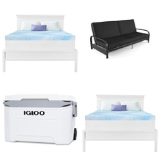 Pallet – 9 Pcs – Covers, Mattress Pads & Toppers, Camping & Hiking – Customer Returns – Dream Serenity, Igloo