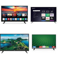 48 Pcs – LED/LCD TVs – Refurbished (GRADE A, GRADE B) – VIZIO, ELEMENT, SCEPTRE