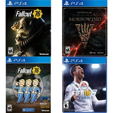 71 Pcs – Sony Video Games – New, Like New, Used – Fallout 76(PS4), Fallout 76 Bundle (PS4), The Elder Scrolls Online: Morrowind (PS4), FIFA 18 Standard Edition (PlayStation 4)