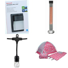 50 Pcs - Lighting & Light Fixtures, Camping & Hiking, Home Security & Safety, Heaters - Open Box Like New, Like New, Used, New - Retail Ready