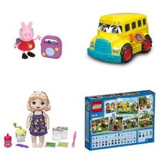 Pallet - 113 Pcs - Action Figures, Dolls, Vehicles, Trains & RC, Powered - Customer Returns - VTECH, Jazwares, Kid Connection, Lego