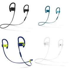 25 Pcs – Powerbeats3 Headphones (Tested NOT WORKING) – Models: ML8V2LL/A, MREQ2LL/A, MRET2LL/A, ML8W2LL/A