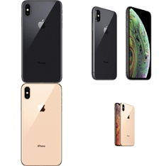 6 Pcs - Apple iPhone Xs Max - Refurbished (GRADE A - Unlocked) - Models: MT5D2LL/A, MT5J2LL/A, MT5F2LL/A - TF, MT5G2LL/A