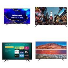 12 Pcs – LED/LCD TVs – Refurbished (GRADE A, GRADE B) – HISENSE, Samsung, SHARP, RCA