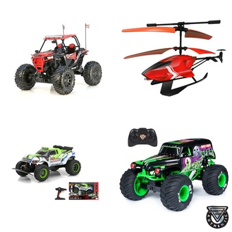 12 Pallets – 318 Pcs – Vehicles, Trains & RC, Vehicles, Boardgames, Puzzles & Building Blocks, Not Powered – Customer Returns – New Bright, Huffy, Adventure Force, Monster Jam