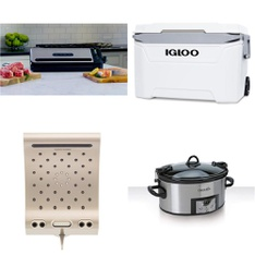 Pallet – 36 Pcs – Camping & Hiking, Kitchen & Dining, Kitchen & Bath Fixtures – Customer Returns – Igloo, Foodsaver, Energy Technology Labs, Crock-Pot