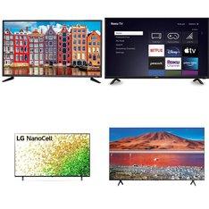 5 Pcs - LED/LCD TVs - Brand New - SCEPTRE, Samsung, LG, RCA