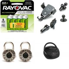 Pallet - 531 Pcs - Accessories, Other, Batteries, In Ear Headphones - Customer Returns - Onn, Scosche, GE, Rayovac