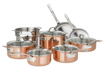 10 Pcs – Viking Culinary 40571-9993C Copper Stainless Steel Cookware Set, 13 Piece – New – Retail Ready