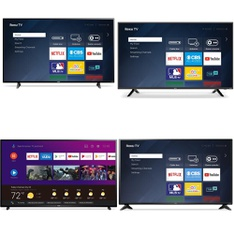 Truckload – 20 Pallets – 176 Pcs – TVs – Tested Not Working (Cracked Display) – Sanyo, Samsung, TCL, Philips
