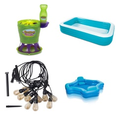 Pallet - 106 Pcs - Pools & Water Fun, Outdoor Play, Patio & Outdoor Lighting / Decor - Customer Returns - HomeTrends, Play Day, Gazillion, Ray Padula
