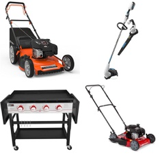 Pallet – 8 Pcs – Trimmers & Edgers, Mowers – Customer Returns – Hart, Hyper Tough, Royal Gourmet