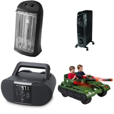 6 Pallets - 157 Pcs - Heaters, Receivers, CD Players, Turntables, Accessories, Power Tools - Customer Returns - Mainstay's, Hyper Tough, Better Homes & Gardens, Onn