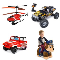 3 Pallets – 50 Pcs – Toys – Vehicles, Trains & RC, Vehicles, Powered – Customer Returns – Huffy, New Bright, Adventure Force, Sky Rover