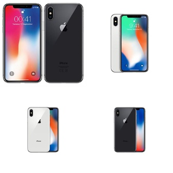 21 Pcs – Apple iPhone X – Refurbished (GRADE A – Unlocked) – Models: MQA52LL/A, MQA62LL/A, MQA92ll/A, MQA82LL/A