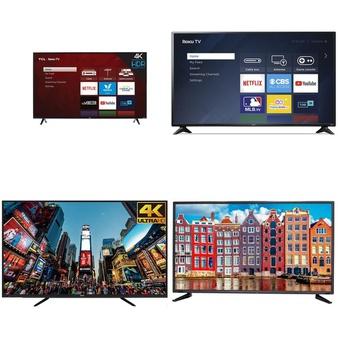 45 Pcs – LED/LCD TVs – Refurbished (GRADE A, GRADE B) – RCA, TCL, HISENSE, PROSCAN