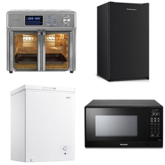 Pallet – 7 Pcs – Bar Refrigerators & Water Coolers, Microwaves – Customer Returns – Panasonic, Hamilton Beach, Kalorik, Primo