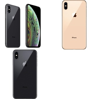 6 Pcs – Apple iPhone Xs Max – Refurbished (GRADE B – Unlocked) – Models: MT5G2LL/A, MT5D2LL/A, MT5C2LL/A