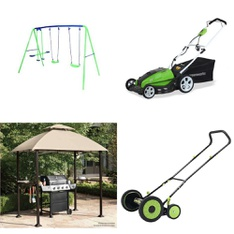 Pallet - 7 Pcs - Outdoor Play, Unsorted - Customer Returns - Sportspower, GreenWorks, LawnMaster, Backyard Grill