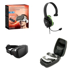 51 Pcs - Video Game Headsets - Refurbished (GRADE A, GRADE B, No Power Adapter) - Model: Utopia 360 Degree VR Headset with Bluetooth Headphones & Controller, HOMIDOV2, TBS-2408-01, TBS-3345-01