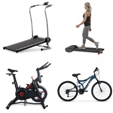Pallet – 6 Pcs – Exercise & Fitness – Customer Returns – Weslo, MD Sports, Hyper Bicycles, ECHELON