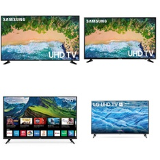 4 Pallets – 48 Pcs – TVs – Open Box (Tested Working) – Samsung, VIZIO, LG, TCL