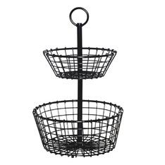 10 Pcs – Member's Mark prod231701 Wire Grid 2-Tier Basket – New – Retail Ready