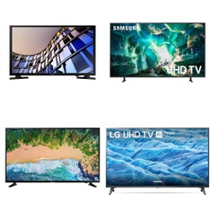 5 Pcs – LED/LCD TVs – Refurbished (GRADE A) – Samsung, LG