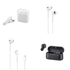 6 Pallets – 2058 Pcs – In Ear Headphones, Lamps, Parts & Accessories, Powered, Accessories – Customer Returns – Onn, Blackweb, Apple, One For All