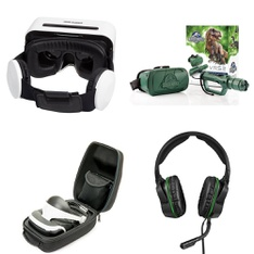 31 Pcs - Video Game Headsets - Refurbished (GRADE A, GRADE B, No Power Adapter) - Model: Wired Headsets and Headphones, Black/White, PSVR1, S5V-00007, 01764