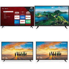 48 Pcs – LED/LCD TVs – Refurbished (GRADE A, GRADE B) – VIZIO, TCL