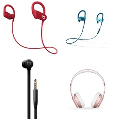 100 Pcs – Apple Beats Headphones – Refurbished (GRADE D, No Packaging) – Models: MWNX2LL/A, MU982LL/A, MRET2LL/A, MX442LL/A