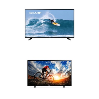 3 Pcs – LED/LCD TVs (46″ – 55″) – Refurbished (GRADE A, No Stand) – SHARP, Philips