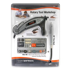 50 Pcs – Project Partners 70-Piece Rotary Tool Set – Black & Gray – New – Retail Ready