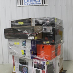 Pallet – 18 Pcs – Monitors, Speakers – Tested NOT WORKING – Samsung, Vivitar, LG, Ion