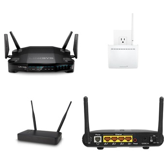 31 Pcs – Computer Networking – Refurbished (GRADE A) – Linksys, Amped Wireless, Actiontec, CISCO