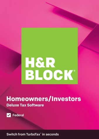 44 Pcs – H&R Block Tax Software Deluxe 2019 (PC) – New – Retail Ready