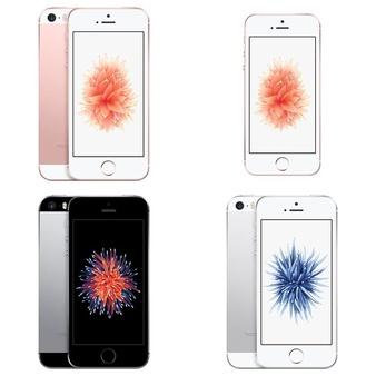 6 Pcs – Apple iPhone SE – Refurbished (GRADE A – Unlocked) – Models: 3A850LL/A, 3A852LL/A, MQ4X2LL/A, 3A770LL/A