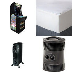 3 Pallets - 59 Pcs - Covers, Mattress Pads & Toppers, Heaters, Other - Customer Returns - Mainstay's, Aller-Ease, ARCADE1up, Honeywell
