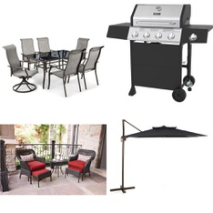 Pallet - 4 Pcs - Patio - Customer Returns - HomeTrends, Backyard Grill, Mainstay's