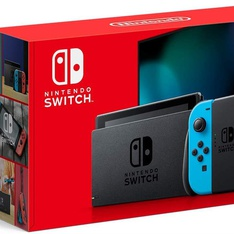 5 Pcs - Nintendo HAD S KABAA USZ Switch with Neon Blue and Neon Red Joy Con - Refurbished (GRADE A, GRADE C - No Power Cord)