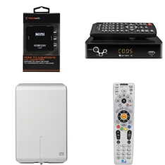 3 Pallets - 181 Pcs - Accessories, Heaters, Speakers - Customer Returns - Blackweb, DirecTV, One For All, Mainstay's